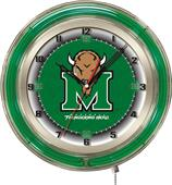 "Holland Marshall University Neon 19"" Clock"