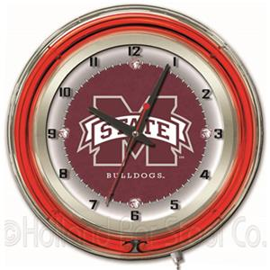 "Mississippi State University Neon 19"" Clock"