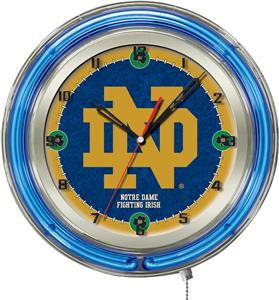 "Holland Notre Dame (ND) Neon 19"" Clock"