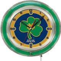 "Holland Notre Dame (Shamrock) Neon 19"" Clock"