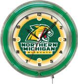 "Northern Michigan University Neon 19"" Clock"