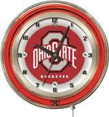 "Holland Ohio State University Neon 19"" Clock"