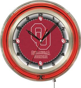 "Holland Oklahoma University Neon 19"" Clock"