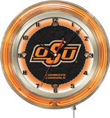 "Holland Oklahoma State University Neon 19"" Clock"
