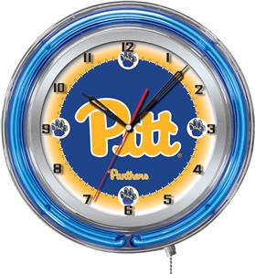 "Holland University of Pittsburgh Neon 19"" Clock"
