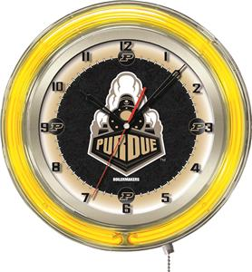 "Holland Purdue NCAA Neon 19"" Clock"