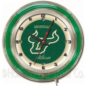"Holland University of South Florida Neon 19"" Clock"