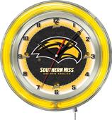 "University of Southern Mississippi Neon 19"" Clock"