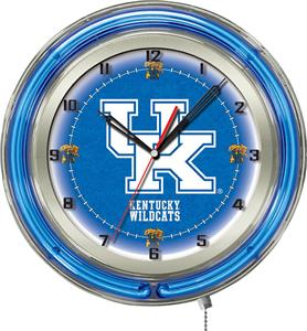 "University of Kentucky ""UK"" Neon 19"" Clock"