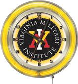 "Holland Virginia Military Institute Neon 19"" Clock"