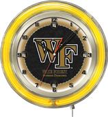 "Holland Wake Forest University Neon 19"" Clock"