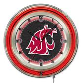 "Holland Washington State University Neon 19"" Clock"