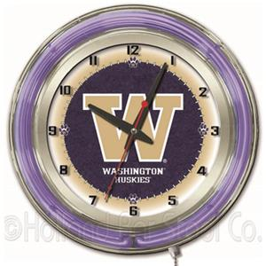 "Holland University of Washington Neon 19"" Clock"