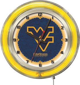 "Holland West Virginia University Neon 19"" Clock"