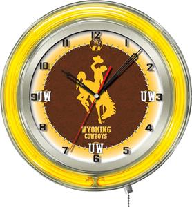 "Holland University of Wyoming Neon 19"" Clock"