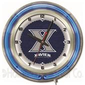 "Holland Xavier NCAA Neon 19"" Clock"