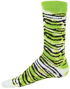 Red Lion Tie Dye Tiger Crew Socks - Closeout