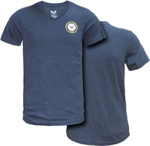 Rapid Dominance Navy Military V-Neck Tee