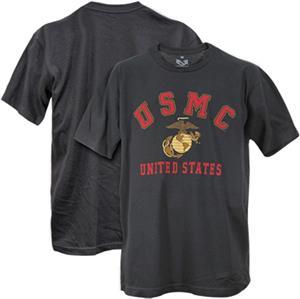 Rapid Dominance US Marines 30 Single Military Tee