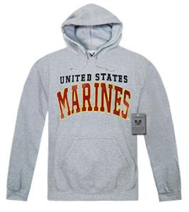 Rapid Dominance Grey Marines Pullover Hoodies