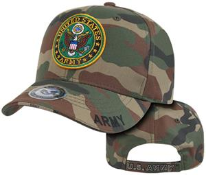 Rapid Dominance Army Logo Camo Military Cap