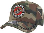Rapid Dominance Marines Logo Camo Military Cap
