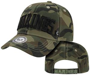 Rapid Dominance Marines Text Camo Military Cap