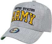 Heather Grey Army Military Cap