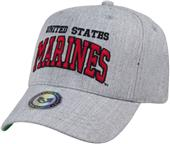 Heather Grey Marines Military Cap