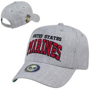 Heather Grey Marines Military Cap