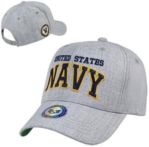 Heather Grey Navy Military Cap