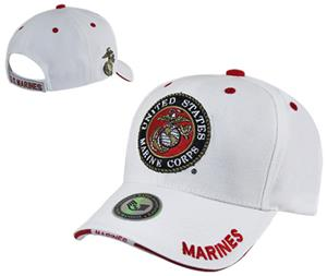 Rapid Dominance White Marines Military Cap