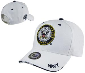 Rapid Dominance White Navy Military Cap