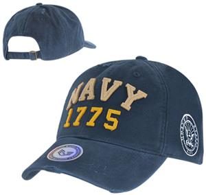 Vintage Athletic Navy Military Cap