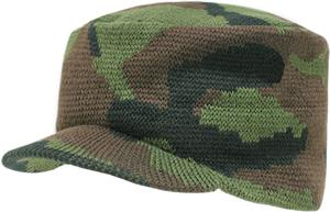 Rapid Dominance Camo Flat Top Jeep Knit Cap