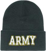 Army Text Classic Military Long Beanie