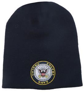Navy Emb. Classic Military Work Beanie
