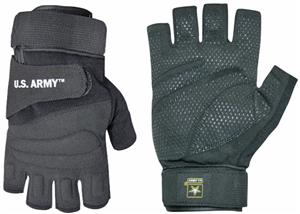 Rapid Dominance Half Finger US Army Gloves