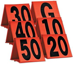 Non-Weighted Football Yard Markers (Set)