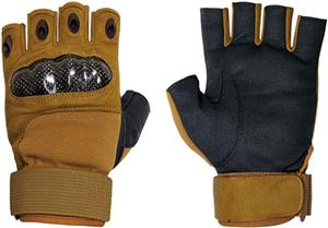 Military Half Finger Hard Knuckle Gloves