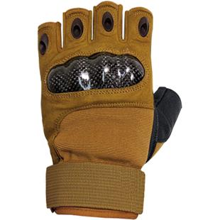 Military Half Finger Hard Knuckle Gloves