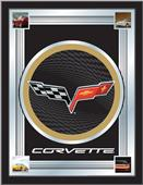 Holland Corvette C6 Black/Grey Design Logo Mirror