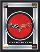 Holland Corvette C6 Red/Grey Design Logo Mirror