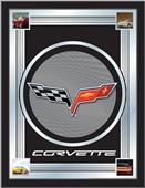 Holland Corvette C6 Grey Design Logo Mirror