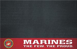 """Fan Mats US Marines 26""""x42"""" Grill Mat"""
