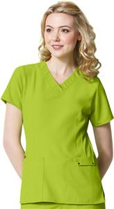 WonderWink Easy Fit Contoured V-Neck Scrub Top