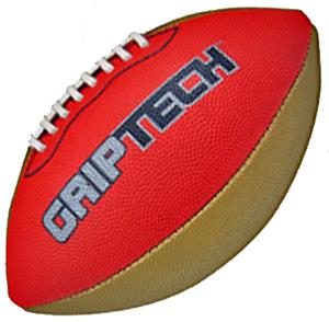 Red GripTech JR  Football Stitched Deluxe Rubber