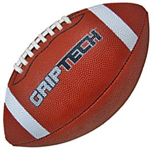 Brown GripTech JR  Football Stitched Deluxe Rubber