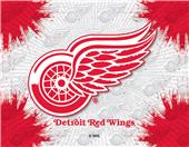 Holland NHL Detroit Red Wings Printed Canvas Art