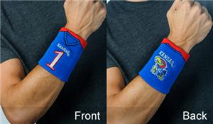 Fan Band NCAA Univ Kansas Football Wristband